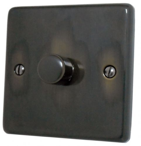 G&H CAN11 Standard Plate Polished Aged Brass 1 Gang 1 or 2 Way 40-400W Dimmer Switch